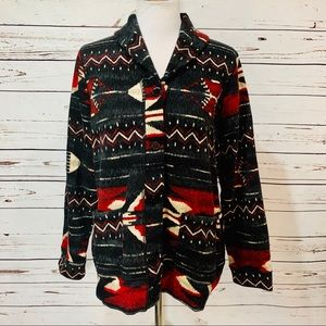 {RALPH LAUREN} Aztec Fleece Lined Jacket